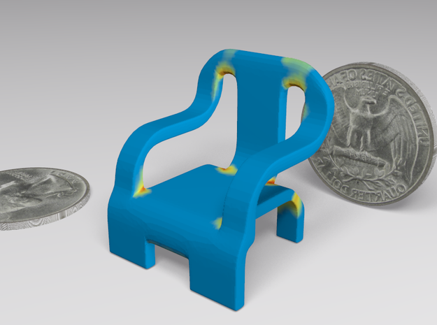 chair 3d printed Weakness map