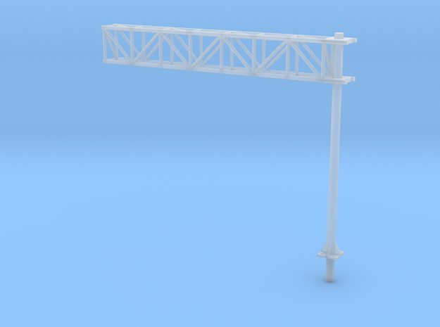 HO Scale Sign Cantilever in Smooth Fine Detail Plastic