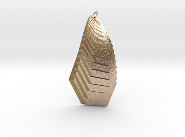 Cascade Pendant in Polished Gold Steel