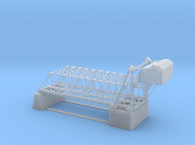 Double Bascule Lift Bridge Z Scale in Smooth Fine Detail Plastic
