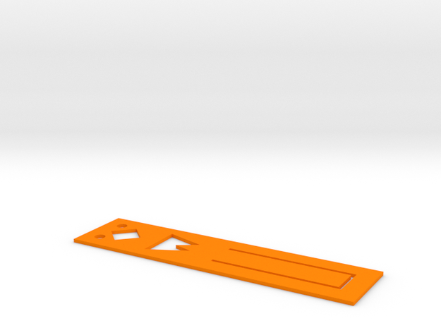 Chick modeling Bookmarks in Orange Strong & Flexible Polished