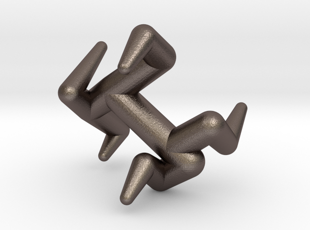 Y4-2 in Polished Bronzed Silver Steel