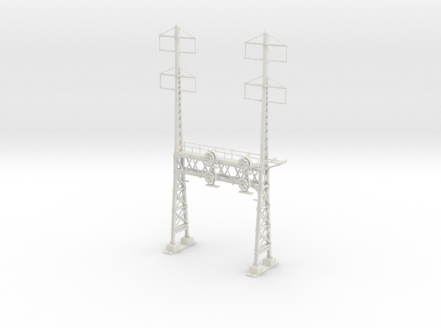 HO Scale PRR W-signal LATTICE 2 Track  W 2-2 PHASE in White Strong & Flexible