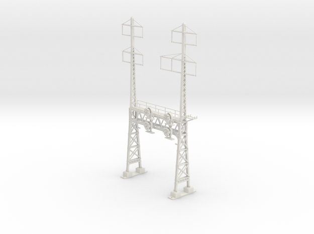 HO Scale PRR W-signal LATTICE 2 Track  W 2-3 PHASE in White Strong & Flexible