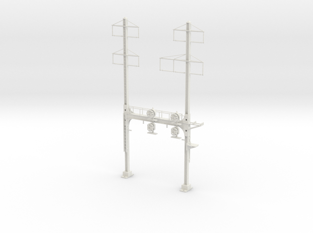 HO Scale PRR W-signal Beam 2 Track  W 2-3 PHASE R in White Strong & Flexible