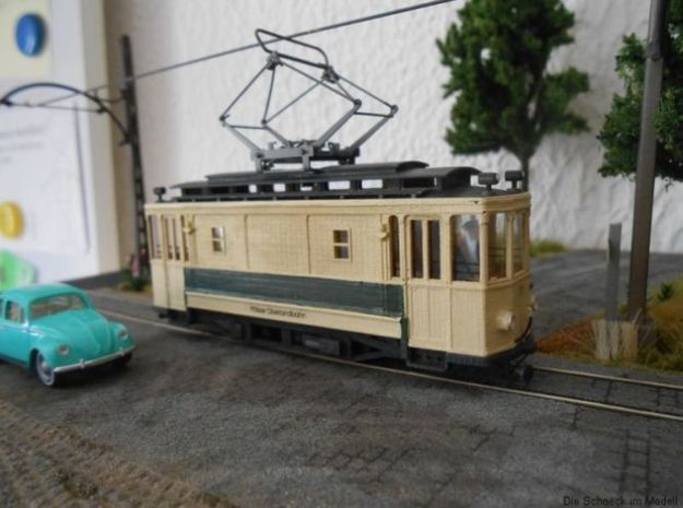 (H0m) - Arbeitstriebwagen in Smooth Fine Detail Plastic