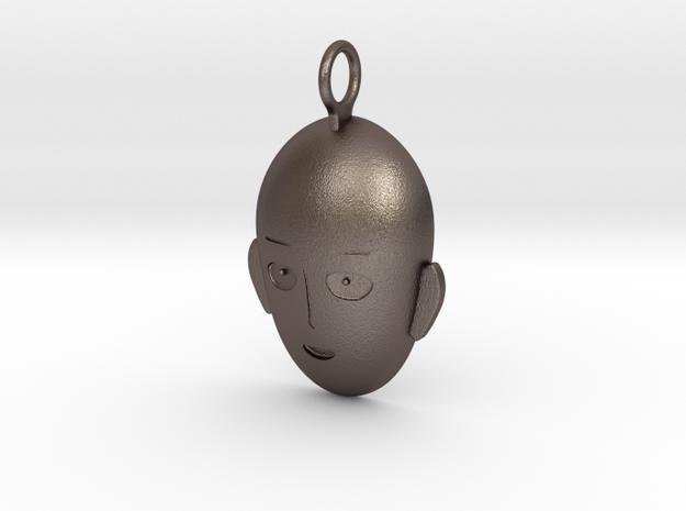 Saitama Face Pendant in Stainless Steel