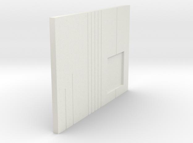 LPA NN-14 - Left side plate in White Natural Versatile Plastic