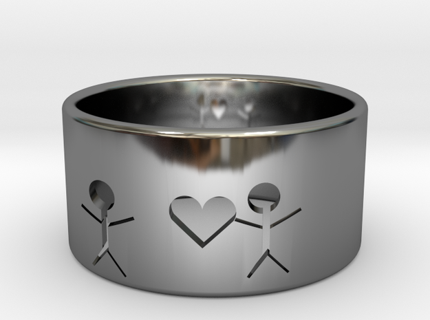 Grab your heart in Premium Silver