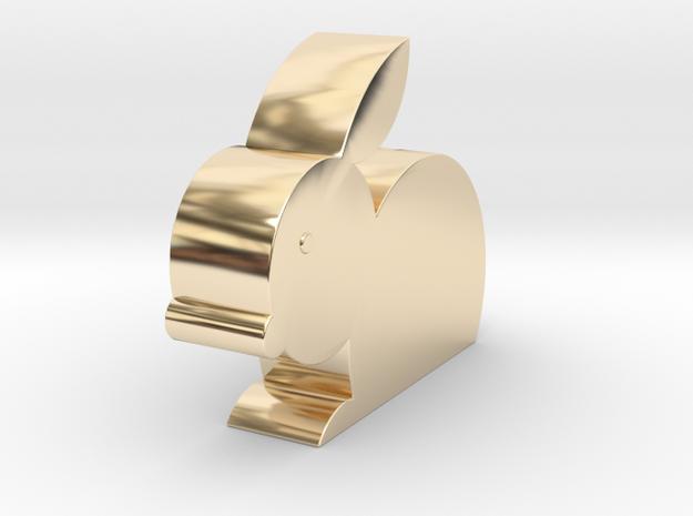 兔子存錢筒.stl in 14K Gold
