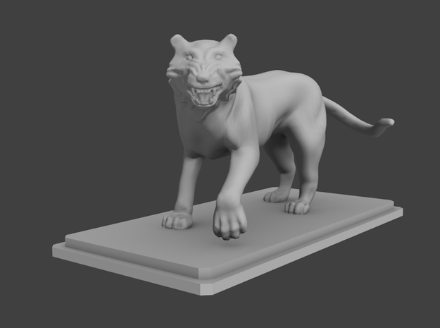 Tiger figure 3d printed Tiger for board games