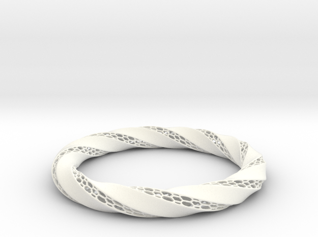Ring-RoyalModel in White Processed Versatile Plastic