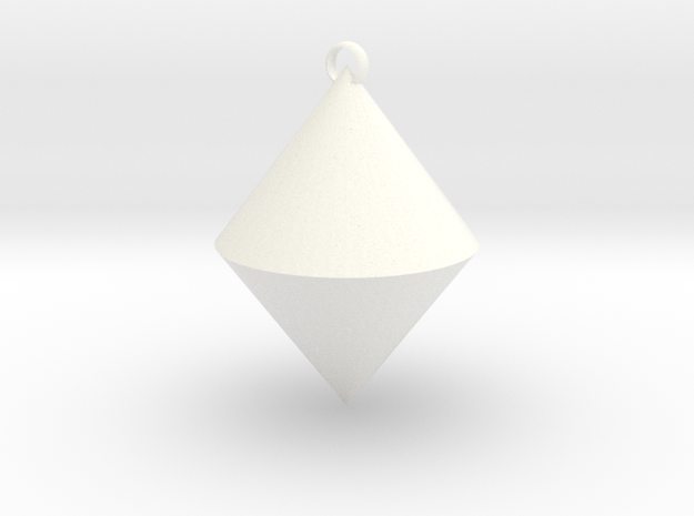 The pendant of cone in White Processed Versatile Plastic