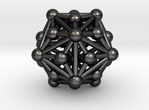 0336 Triakis Icosahedron V&E (a=1cm) #003 in Polished and Bronzed Black Steel