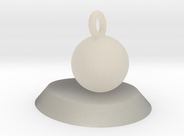 球盆鑰匙扣 in White Acrylic