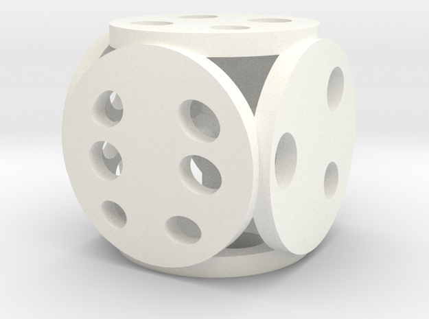 Petri Dice in White Strong & Flexible Polished