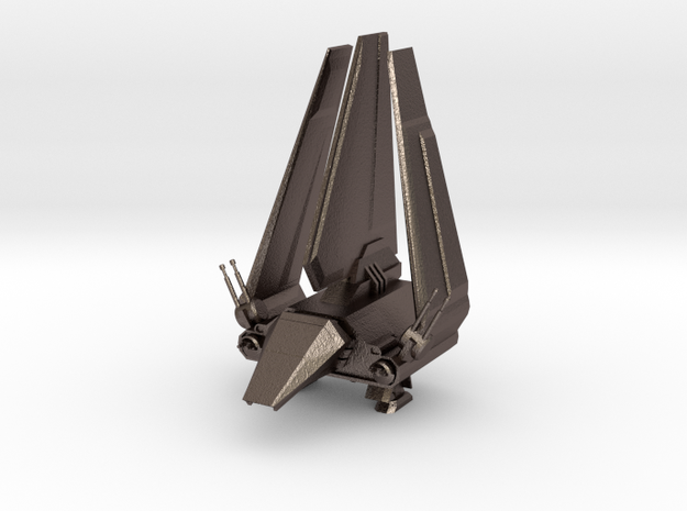 Imperial Lambda Shuttle - Wings Folded in Polished Bronzed Silver Steel