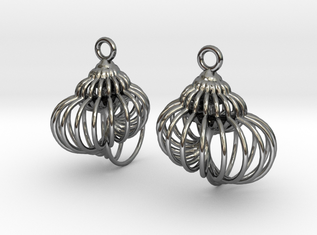 spiral shell-1 in Fine Detail Polished Silver