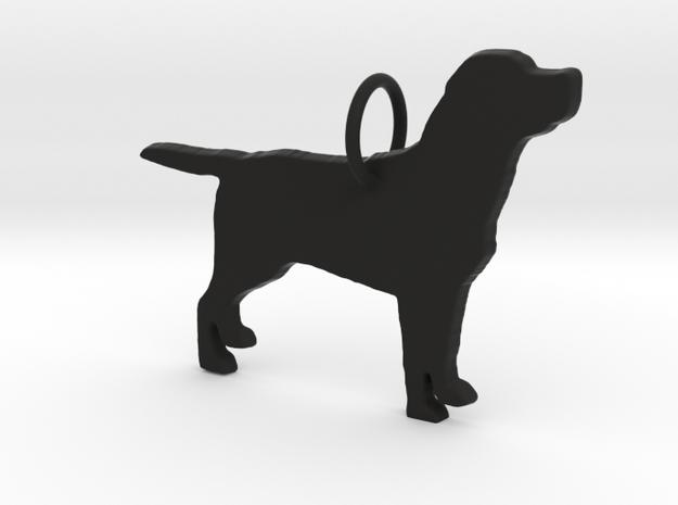 Labrador dog full body silhouette pendant  in Black Natural Versatile Plastic