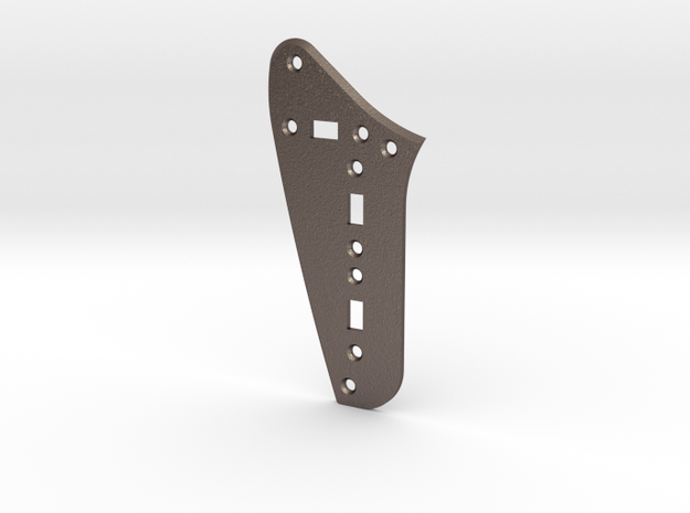 Jag Rhythm Circuit Plate - 3 On/Off switches Bevel in Polished Bronzed Silver Steel