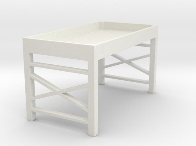Loft Bed in White Natural Versatile Plastic