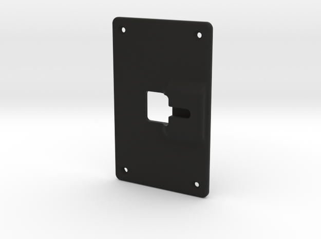 Backplate Screwmount Extra0.8mm in Black Strong & Flexible