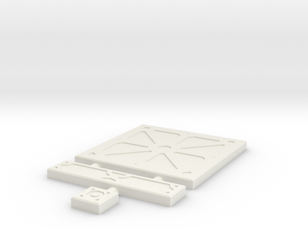 SciFi Tile 03 - Reinforced Plate in White Natural Versatile Plastic