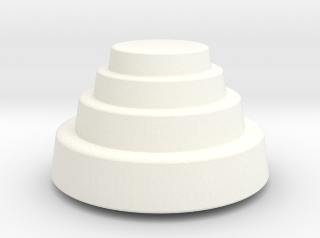 DRAW paperweight - terraced dome solid in White Processed Versatile Plastic