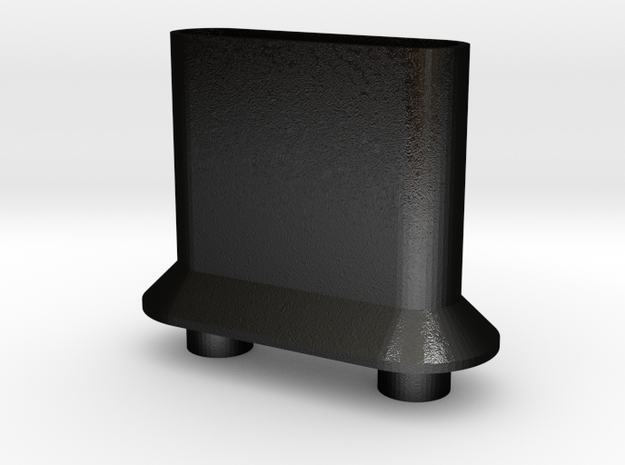 Dual Wide Bore Drip Tip in Matte Black Steel