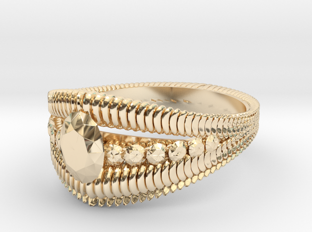 Oval cut ring(Japan 10,USA 5.5,Britain K)  in 14K Yellow Gold