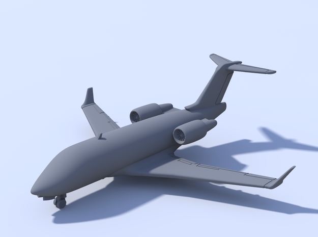 1:400 - Challenger 604 in Smooth Fine Detail Plastic