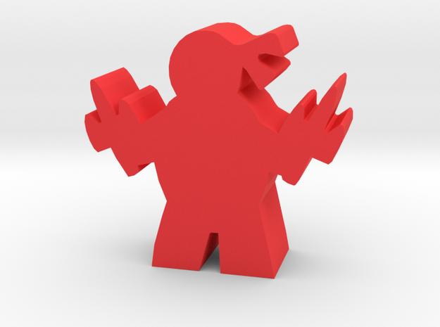 Game Piece, Mutant Ninja, Sais in Red Processed Versatile Plastic