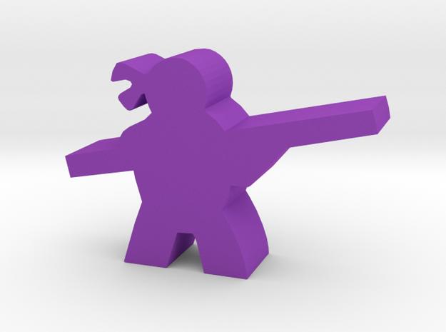 Game Piece, Mutant Ninja, Staff in Purple Processed Versatile Plastic