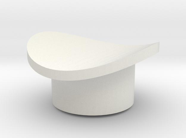 Ahsoka Tano Lightsaber - Button 1 in White Natural Versatile Plastic