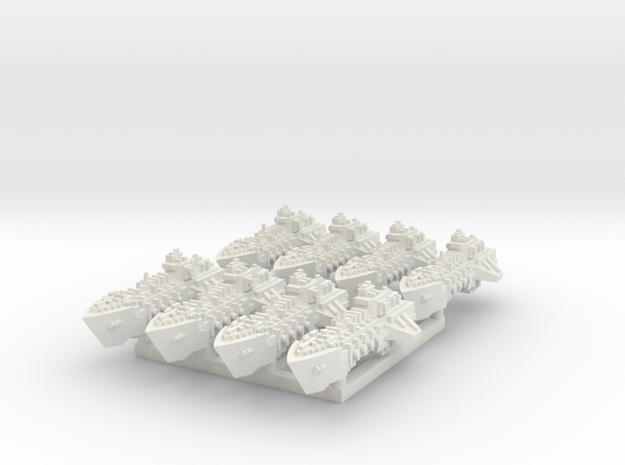 BFG Viper Class Destroyers (x8) in White Natural Versatile Plastic