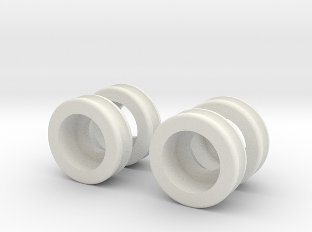 Mini-Z Moto Racer Ball Bearing Sleeves in White Natural Versatile Plastic