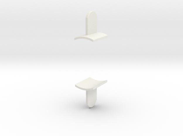 Ahsoka Tano Lightsaber - Fins in White Strong & Flexible