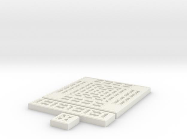 SciFi Tile 06 - Standard walkway in White Natural Versatile Plastic