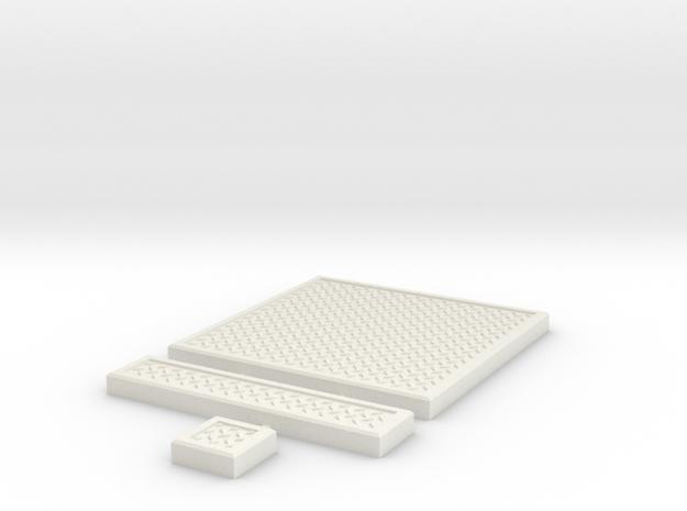 SciFi Tile 05 - Diamond Plate in White Strong & Flexible