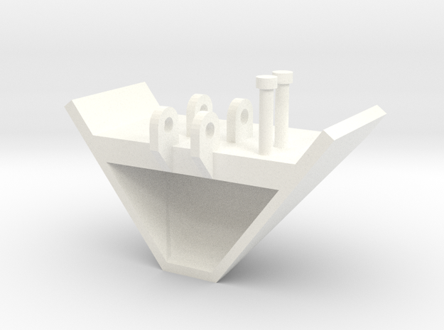 1/64 V Bucket in White Processed Versatile Plastic