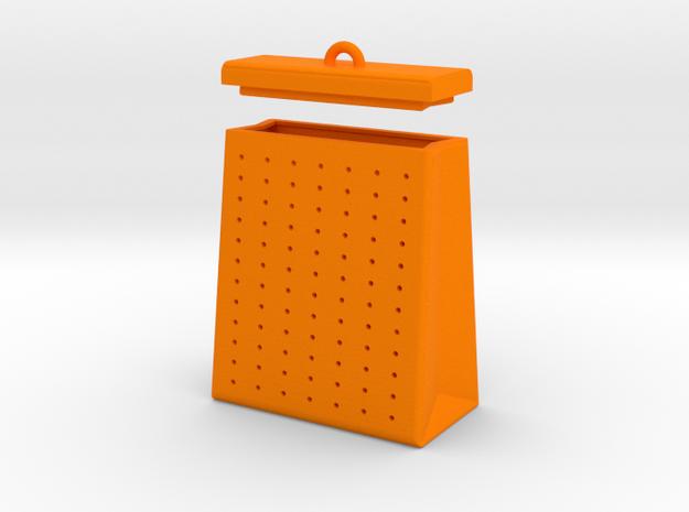 TEA BAG SEEPER in Orange Strong & Flexible Polished