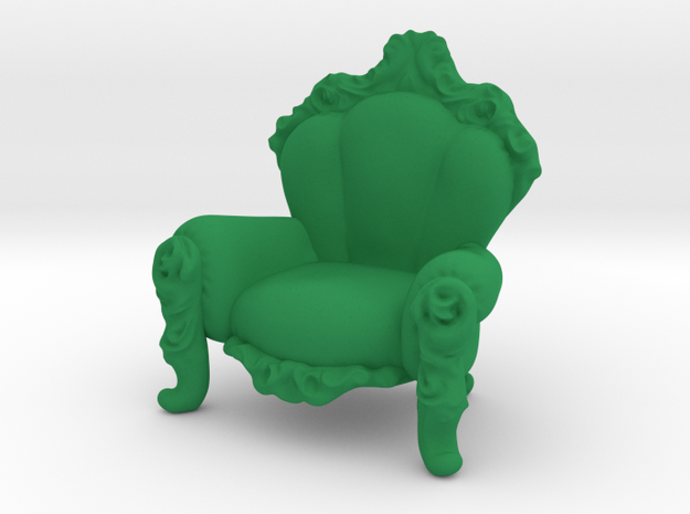 Arm Chair in Green Strong & Flexible Polished