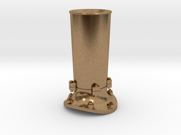 Steam locomotive smoke stack - S scale in Natural Brass