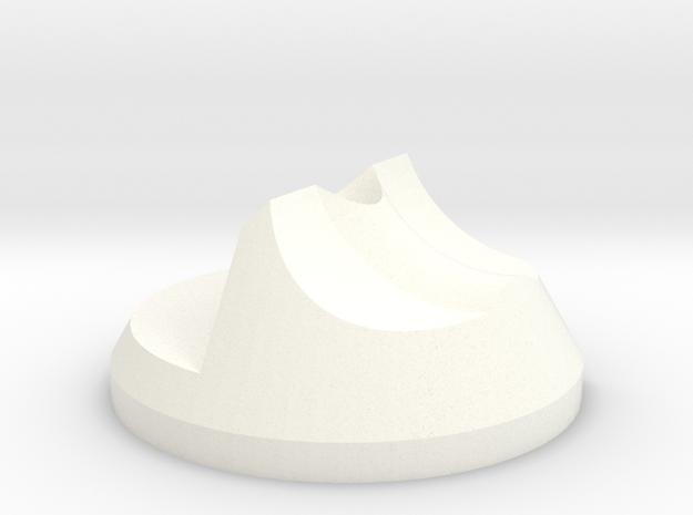 Left Filament Guide - Rep2X in White Processed Versatile Plastic