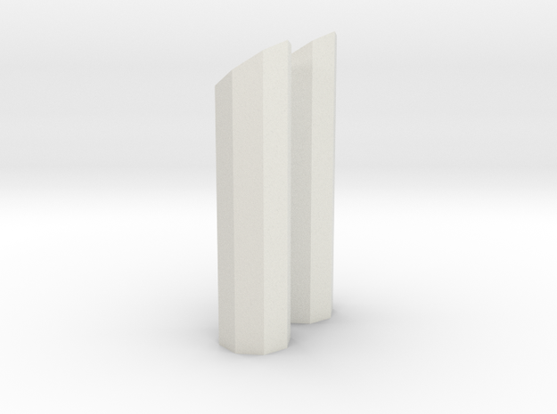 1/64 8 side short stack in White Natural Versatile Plastic