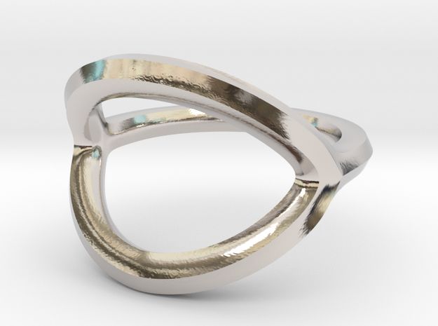 Arched Eye Ring Size 6 in Platinum