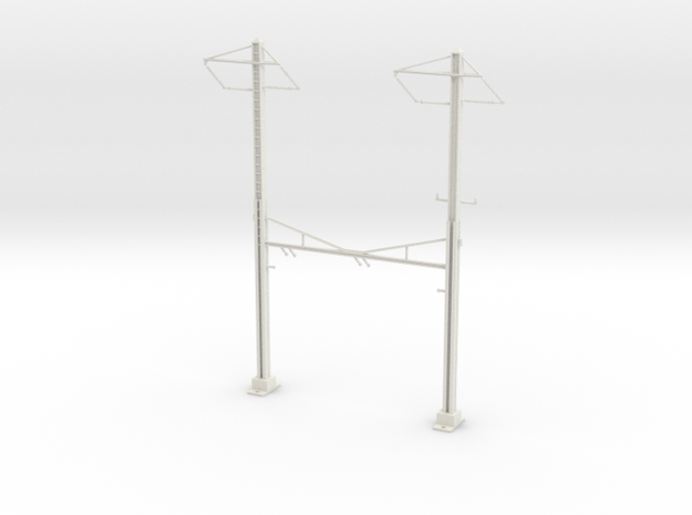 PRR CATENARY HO SCALE 2TRK CURVED STEADY 2 PH in White Strong & Flexible