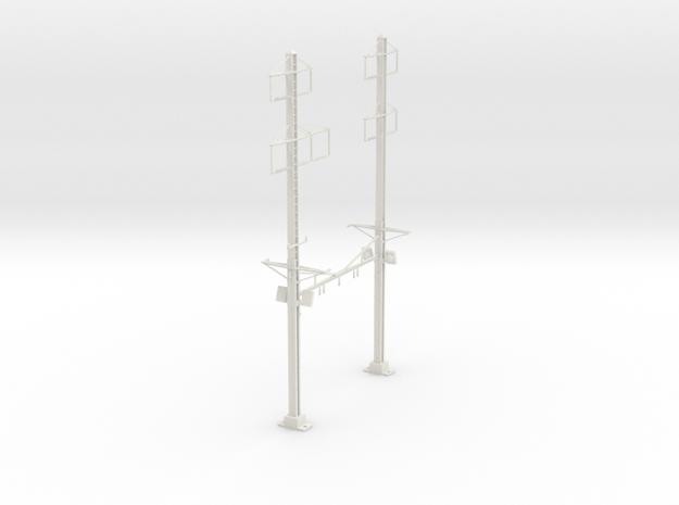 PRR K BRACE 2 TRACK INTERLOCKING 2-3PHASE  in White Natural Versatile Plastic