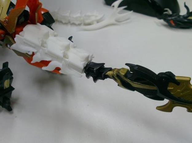 TFP Voyager Beast king Tail-Shield 3d printed compatible with original tail.