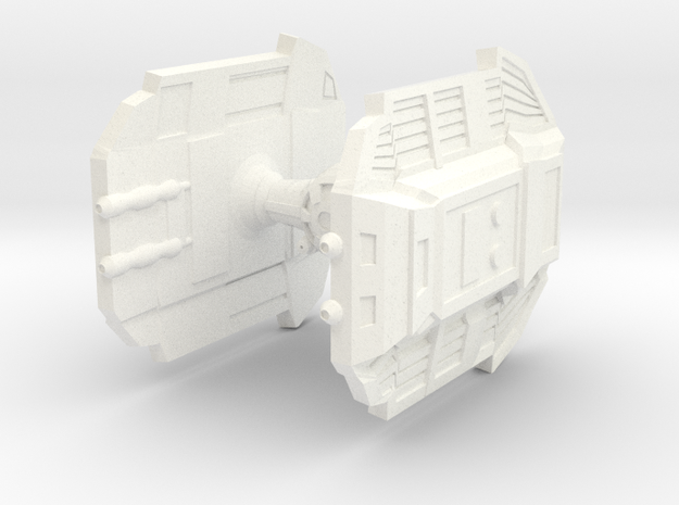 Warbot DIE Fighter in White Processed Versatile Plastic
